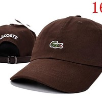 LACOSTE embroidery Strap Cap Adjustable Golf Snapback Baseball Hat