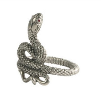 Pewter Snake Napkin Ring  S/4