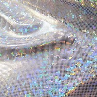 Shattered Glass- Silver/White - Holographic Lycras - Dance & Theatrical Fabric From Australia & New Zealand's Largest Online Fabric Store
