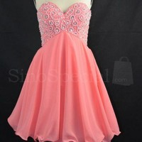 WowDresses — Exquisite A-line Sweetheart Mini Embroidery Prom Dress