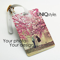 Personalized Luggage Tag with your photo, your design, custom pu luggage tag, name tag, travel tag, bag tag, office tag, custom made