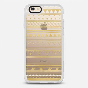 GOLD TRIBAL - CRYSTAL CLEAR PHONE CASE iPhone 6s case by Nika Martinez | Casetify