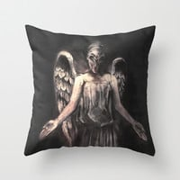 I've Forgotten Why I Shouldn't Blink Throw Pillow by Alice X. Zhang