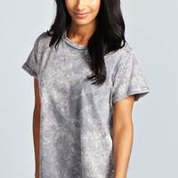 Elle Acid Wash Tee