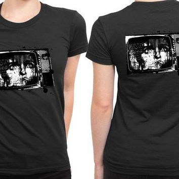 DCCK7H3 Joy Division Vintage Television Threshold 2 Sided Womens T Shirt