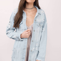 Brynn Distressed Denim Jacket
