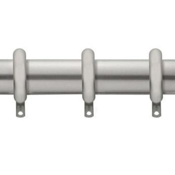 Kirsch Designer Metals 1 3/8 Inch Diameter Smooth Traverse Curtain Rod Set with Rings, 38 - 66 Inches