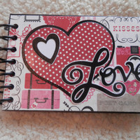 4x6 Love or Valentines Day Chipboard Scrapbook Photo Album