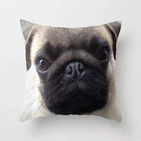Pug Hi Throw Pillow by Veronica Ventress | Society6