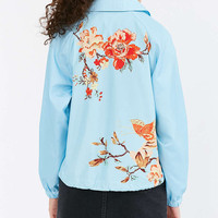 Silence + Noise Celia Floral Coach Jacket - Urban Outfitters