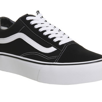 Vans Old Skool Platform Black White - Hers trainers