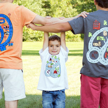 32f73dc80 SET Matching Father Son T-Shirt Gift Idea Dad Son - Race Track Car Playmat
