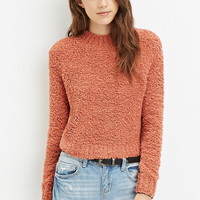 Fuzzy Mock Neck Sweater
