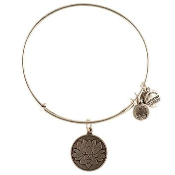Lotus Peace Petals Charm Bracelet | Alex and Ani