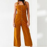 UO Corduroy Dungaree Jumpsuit   Urban Outfitters Canada