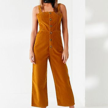 UO Corduroy Dungaree Jumpsuit | Urban Outfitters Canada