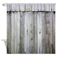 Weathered Rustic Barn Wood Shower Curtain> Coastal, Vintage and Urban Chic Shower Curtains> Rebecca Korpita Coastal Design