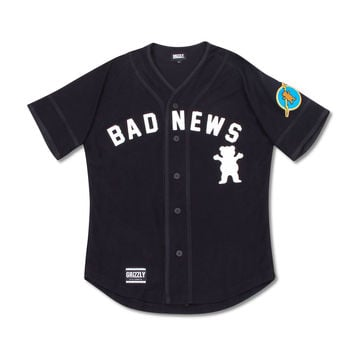 1976 Bad News Baseball Jersey in Black - BAD NEWS - SHOP BY COLLECTION