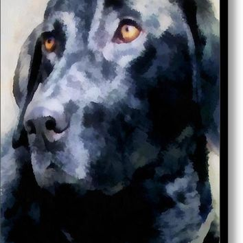animals - dogs - Black Lab Canvas Print