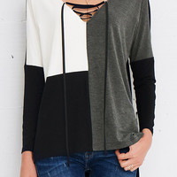 Cupshe Lazy Afternoon Color-blocked Top