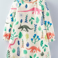 Mini Boden 'Florasuarus' Smock Dress (Toddler Girls, Little Girls & Big Girls) | Nordstrom
