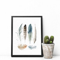 "Printable Wall art Poster /  feathers / 8""x10"" Instant Download print for home Decor TheLabelBoutique digital artwork"
