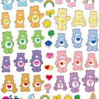 Care Bears X Nail Pop Water Slide Decals