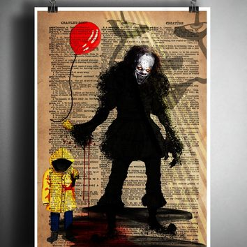 Horror movie art, Pennywise the clown, IT, myths and monsters