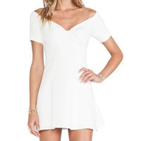 NBD Whoops Fit & Flare Dress in Ivory
