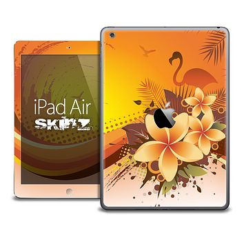 The Orange Flamingo Paradise Skin for the iPad Air