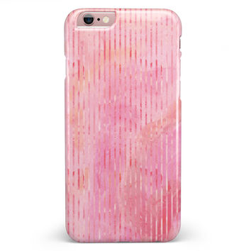 Shabby Chic Pink Watercolor Stripes iPhone 6/6s or 6/6s Plus INK-Fuzed Case
