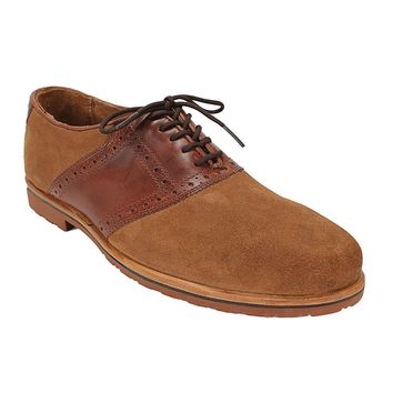 David Saddle Oxford in Briar Brown w/ Tan Suede Leather by Country Club Prep