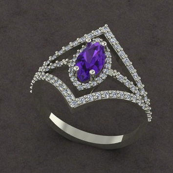 v ring with marquıse