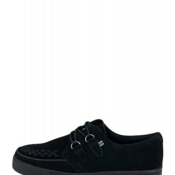 T.U.K Black Suede Creeper Sneaker