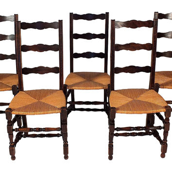 French Dining Chairs, S/5