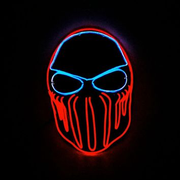 Wire Plastic American Chief Party Mask LED Light Up Halloween Carnival Cosplay Festival Decoration Bar Costume Props New 2018