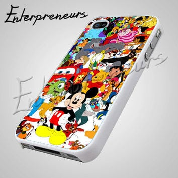Disney Character Design - iPhone 4/4s/5 Case - Samsung Galaxy S2/S3/S4 Case - Black or White