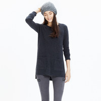 Cashmere Side-Slit Pocket Sweater
