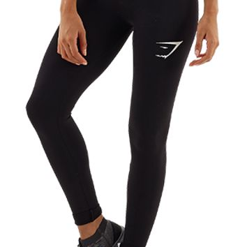 Gymshark Form Compression Leggings - Black/White - Leggings - Womens