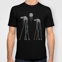 Dali's Mechanical Elephants - Black Sky T-shirt by Geekchic