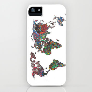 Flags - World Map iPhone & iPod Case by Turn North Press | Society6