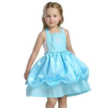 Girls Elsa Kitchen Apron Halloween Costume Child Princess Birthday Party Dress Up Or Play Photo Prop