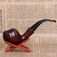 Hot Classic Carve Resin Pipes Chimney Filter Smoking Pipe Tobacco Pipe Cigar Gifts Narguile Weed Grinder Smoke Mouthpiece