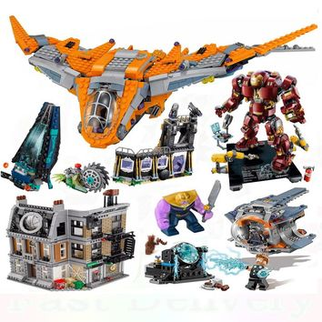 Lepin Marvel Super Heroes  Thanos Gamora Thor Weapon Quest legoINGly AVENGERS 3 Infinity War Building Blocks Bricks Toy