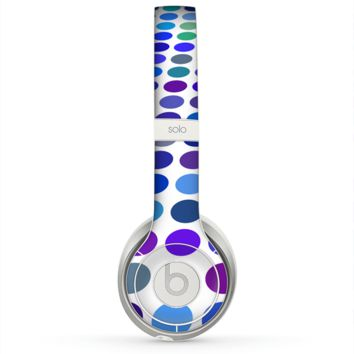 The Blue and Purple Strayed Polkadots Skin for the Beats by Dre Solo 2 Headphones