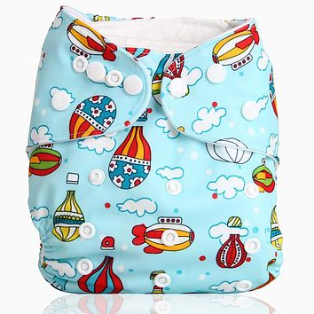 Bear Leader Baby Cloth Diaper Reusable Pocket Nappies Washable Modern Cloth Diaper Cover 0-2 Years 3-15KG