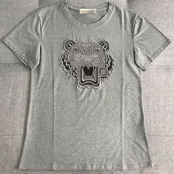 GUCCI Tiger Head Embroidery Fashion Tunic Shirt Top Blouse