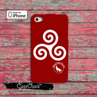 Teen Wolf Triskelion Symbol Alpha Beacon Hills Scott Mccall Derek Cute Custom iPhone 4 and 4s Case and Custom iPhone 5 and 5s and 5c Case