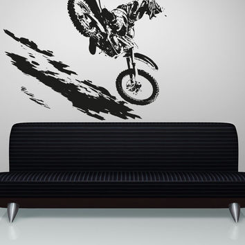 Vinyl Wall Decal Sticker Motocross #OS_AA193
