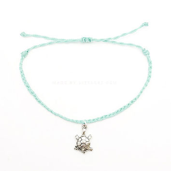 Turtle Friendship Bracelet - Best Friend Gift - Best Friend Bracelet - Gift for Her - Braided Bracelet - Charm bracelet